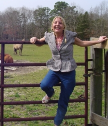 mom and horses
